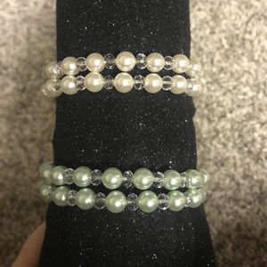 Set of 2 beaded wrap around bracelets NEW